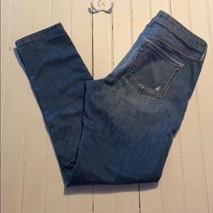 White House Black Market Skinny Jeans Distressed 4